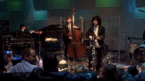 LP and Nick Rosen perform at EastWest Studios during the recording of Into The Wild: Live at EastWest Studios live EP.